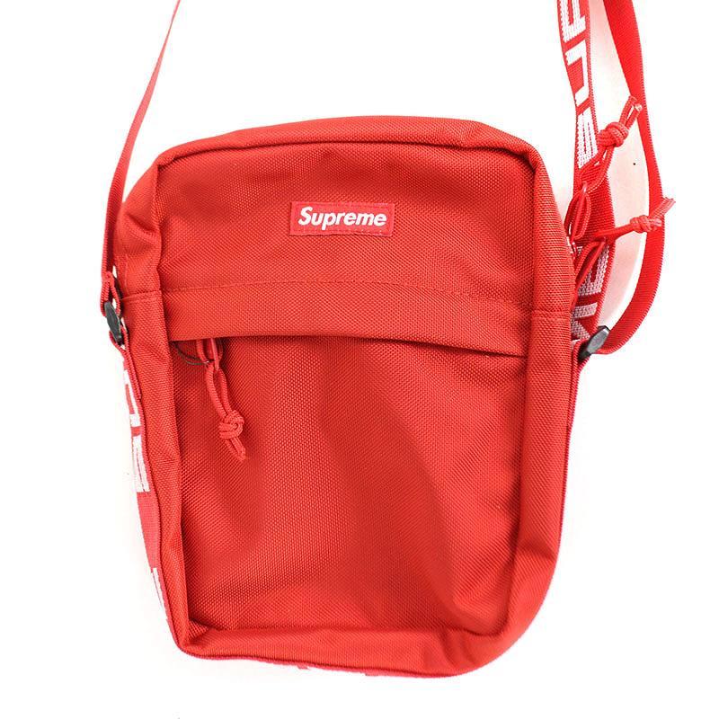 シュプリーム/SUPREME 【18SS】【Shoulder Bag】ボックスロゴナイロンショルダーバッグ(レッド)【SB01】【小物】【119081】【中古】bb229#rinkan*S