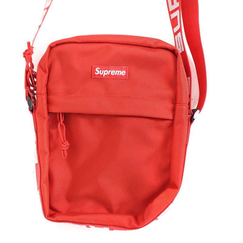 シュプリーム/SUPREME 【18SS】【Shoulder Bag】ボックスロゴナイロンショルダーバッグ(レッド)【SB01】【小物】【119081】【中古】bb154#rinkan*S