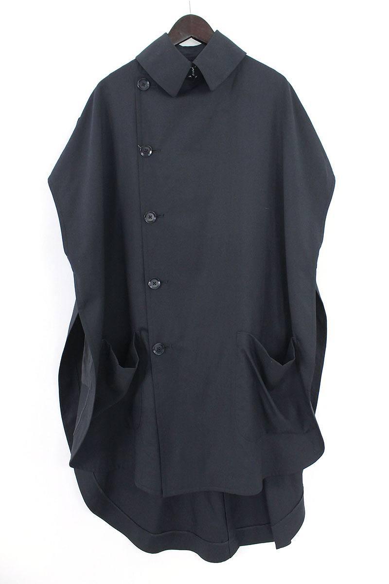 グランドワイ/GroundY 【18SS】【Cape Coat Double Serge】ノースリーブオーバーサイズシャツコート(1/ブラック)【SB01】【メンズ】【419081】【中古】bb212#rinkan*A