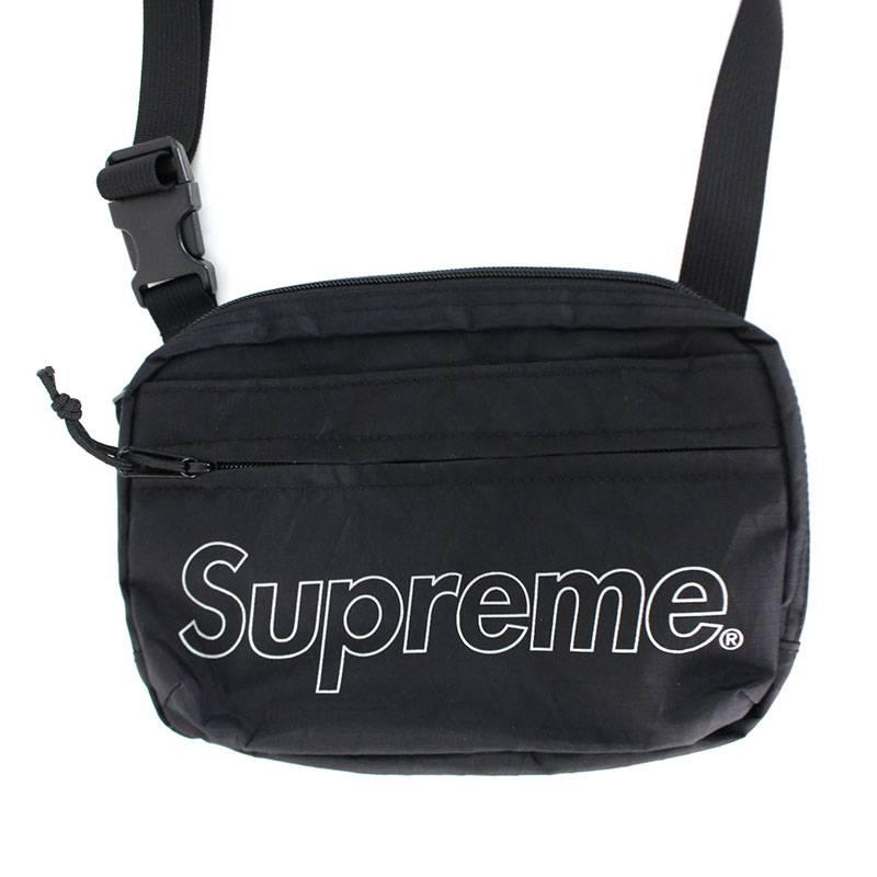 シュプリーム/SUPREME 【18AW】【Shoulder Bag】ボックスロゴナイロンショルダーバッグ(ブラック)【SJ02】【小物】【719081】【中古】bb168#rinkan*S