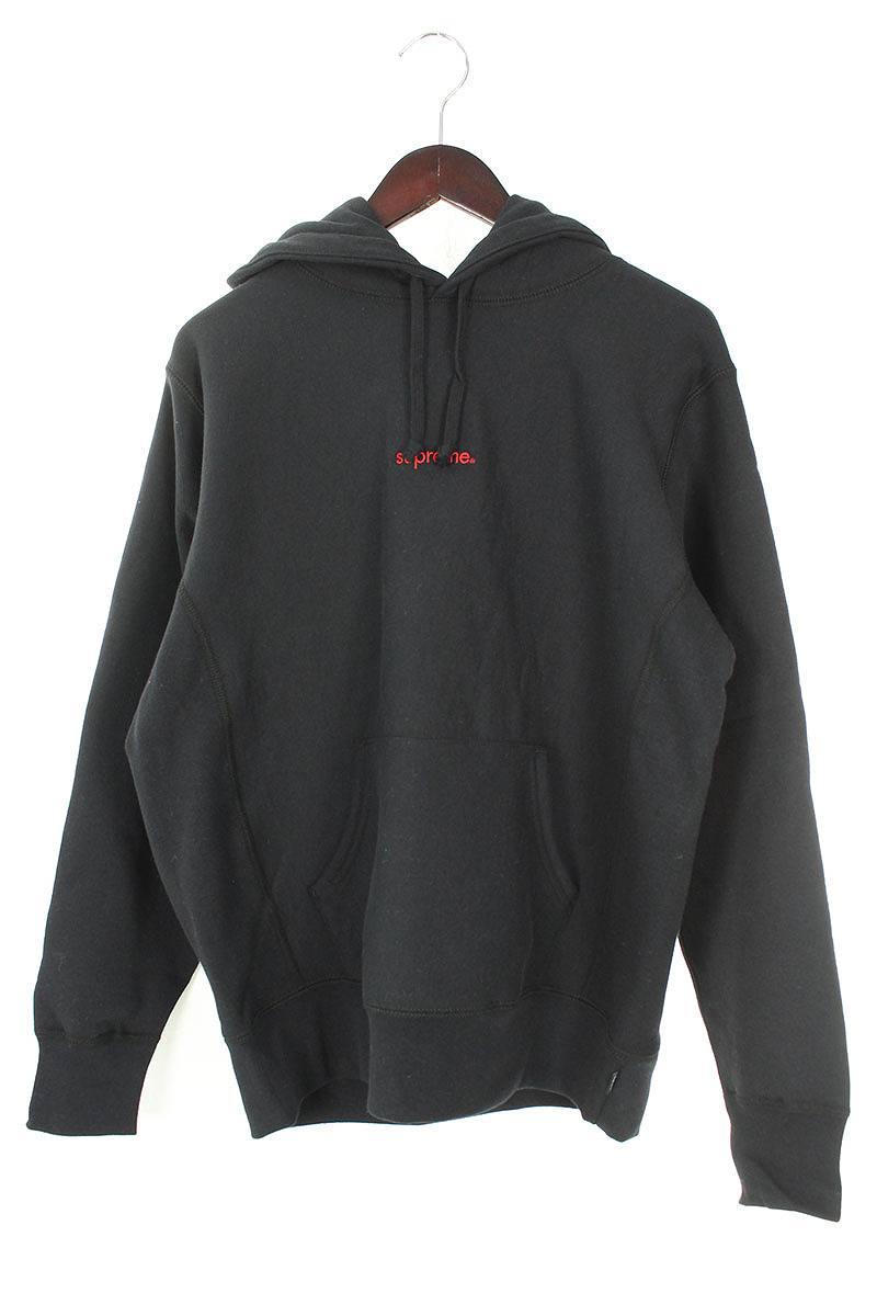 シュプリーム/SUPREME 【18AW】【Trademark Hooded Sweatshirt】胸ロゴ刺繍パーカー(S/ブラック)【NO05】【メンズ】【919081】【中古】[5倍]bb131#rinkan*S
