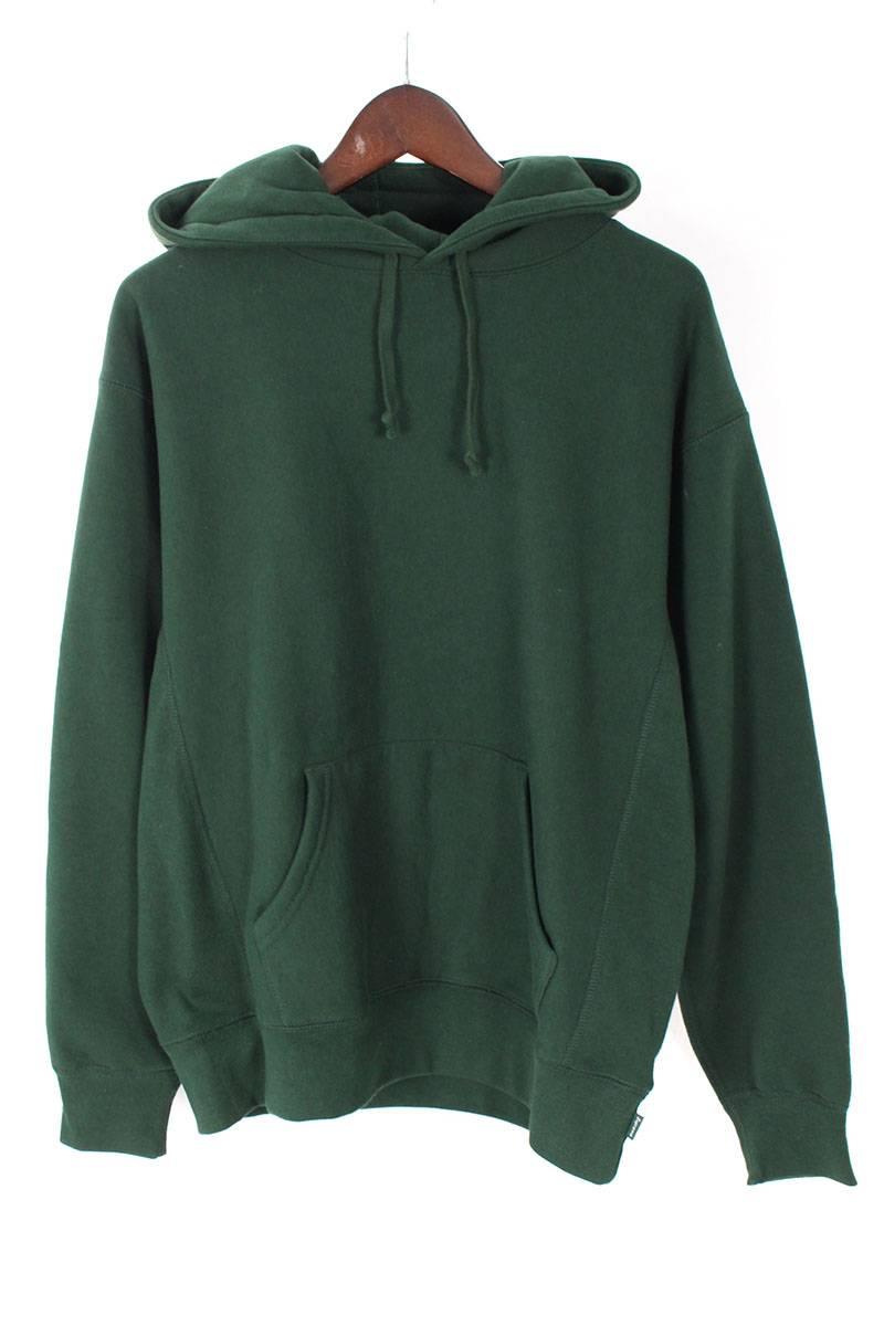 シュプリーム/SUPREME 【18SS】【 Studded hooded sweatshirt】バックスタッズロゴプルオーバーパーカー(S/グリーン)【HJ12】【メンズ】【719081】【中古】[5倍]bb182#rinkan*A