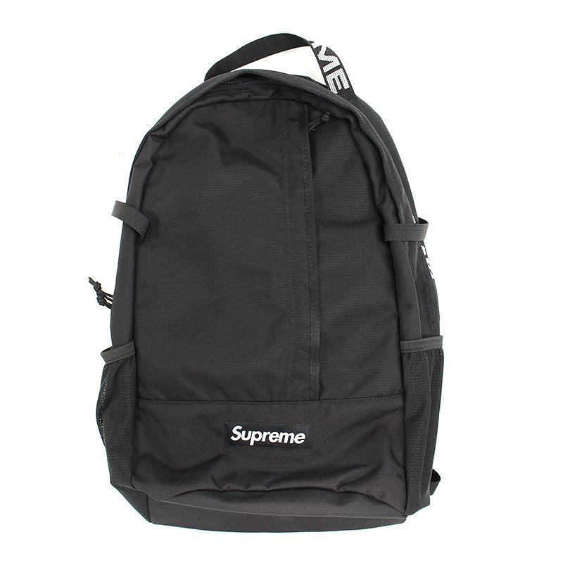 シュプリーム/SUPREME 【18SS】【Backpack】ボックスロゴナイロンバックパック(ブラック)【SB01】【小物】【819081】【中古】bb131#rinkan*S