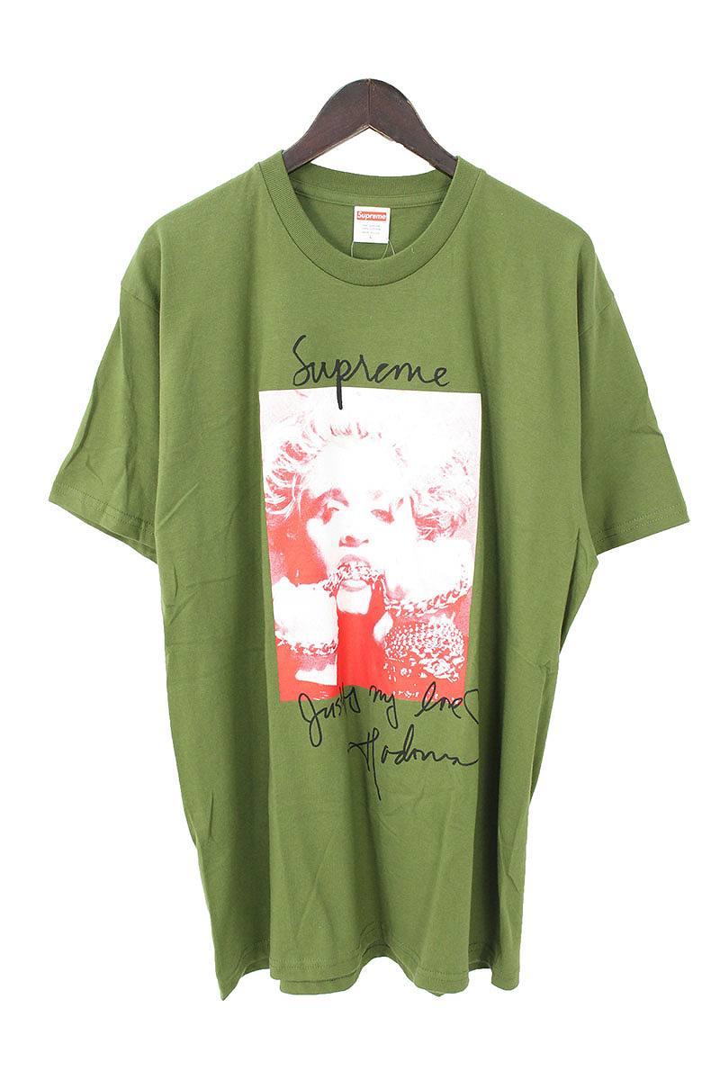 シュプリーム/SUPREME 【18AW】【Madonna Tee】マドンナプリントTシャツ(L/カーキ)【OM10】【メンズ】【129081】【中古】[5倍]bb76#rinkan*S