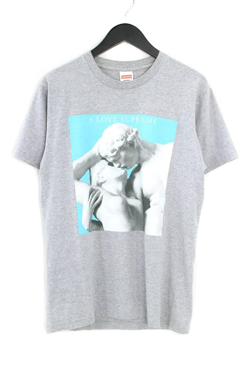 シュプリーム/SUPREME 【14AW】【A Love Supreme Tee】フロントプリントTシャツ(M/グレー)【OM10】【メンズ】【229081】【中古】bb205#rinkan*B