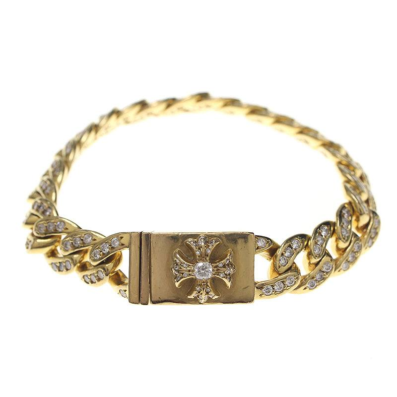 Rinkan Chromic Hertz Chrome Hearts Diamond Gold Bracelet 22link