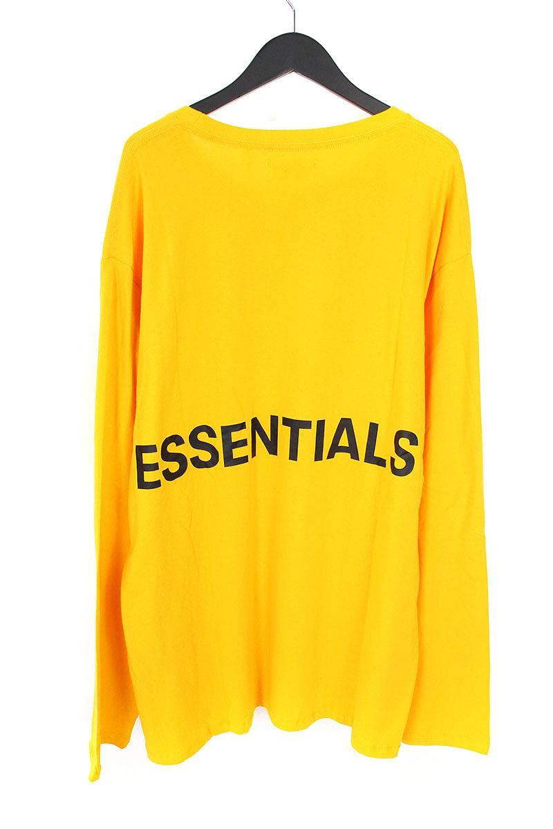 フォグ/FOG 【18AW】【ESSENTIALS Boxy Graphic Long Sleeve T-Shirt】バックプリント長袖カットソー(XL/イエロー)【SJ02】【メンズ】【529081】【中古】【P】bb131#rinkan*S