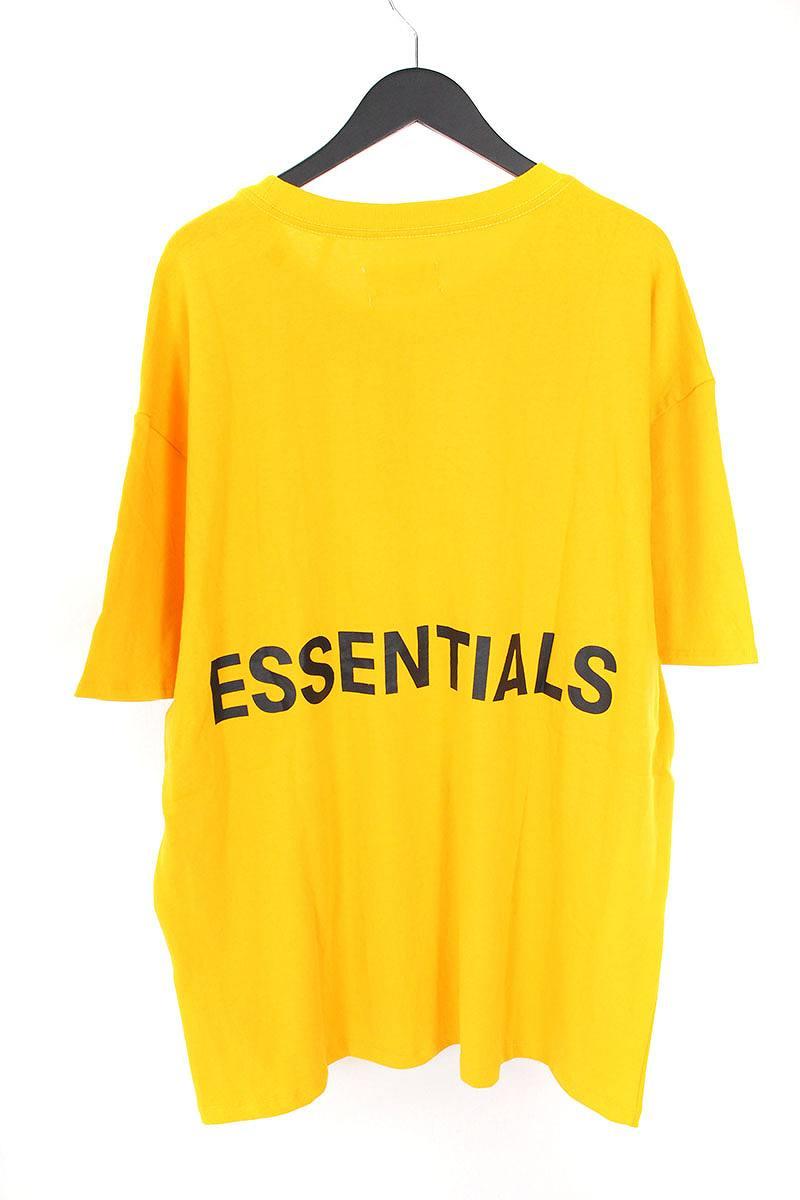 フォグ/FOG 【18AW】【ESSENTIALS Boxy Graphic T-Shirt】バックプリントTシャツ(L/イエロー)【SB01】【メンズ】【529081】【中古】【P】bb131#rinkan*S