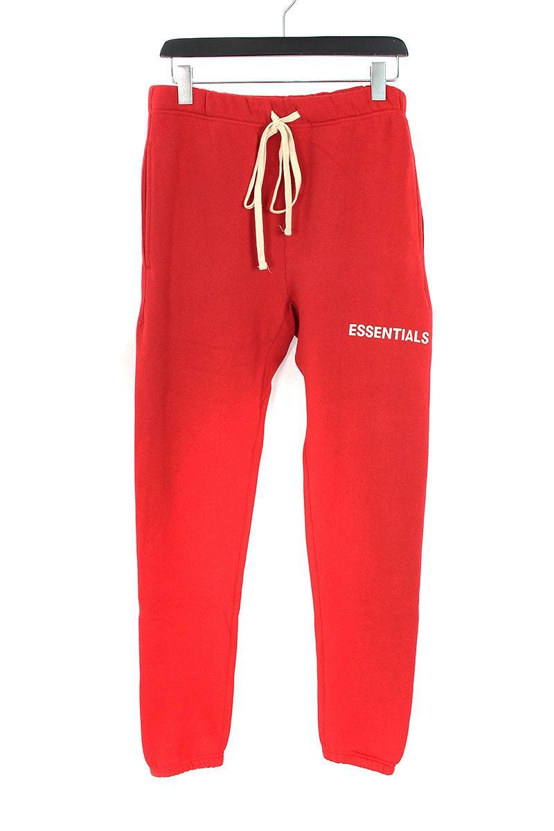 フォグ/FOG 【18AW】【ESSENTIALS Graphic Sweatpants】プリントスウェットロングパンツ(S/レッド)【SB01】【メンズ】【529081】【中古】[5倍][5倍]bb131#rinkan*S