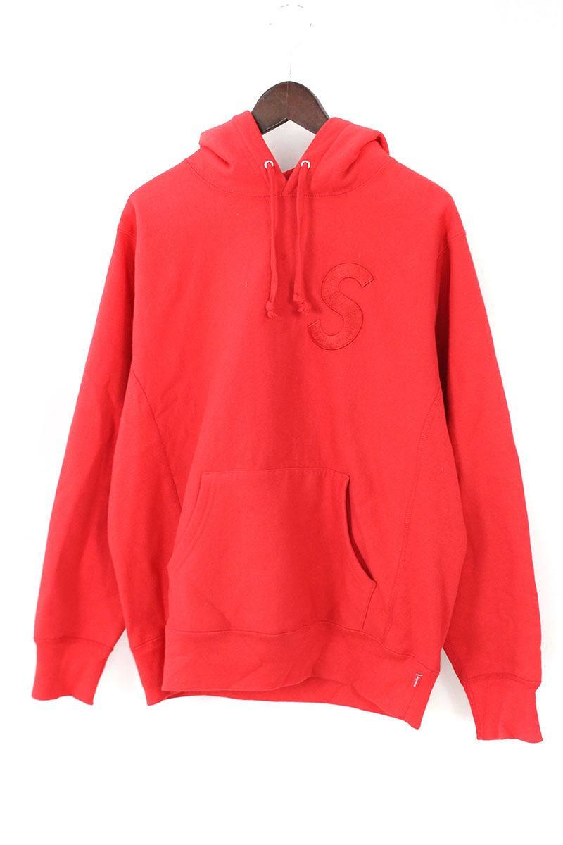 シュプリーム/SUPREME 【15AW】【S Logo Hooded Sweatshirt】Sロゴ刺繍プルオーバーパーカー(M/レッド)【OM10】【メンズ】【729081】【中古】[5倍]bb205#rinkan*B