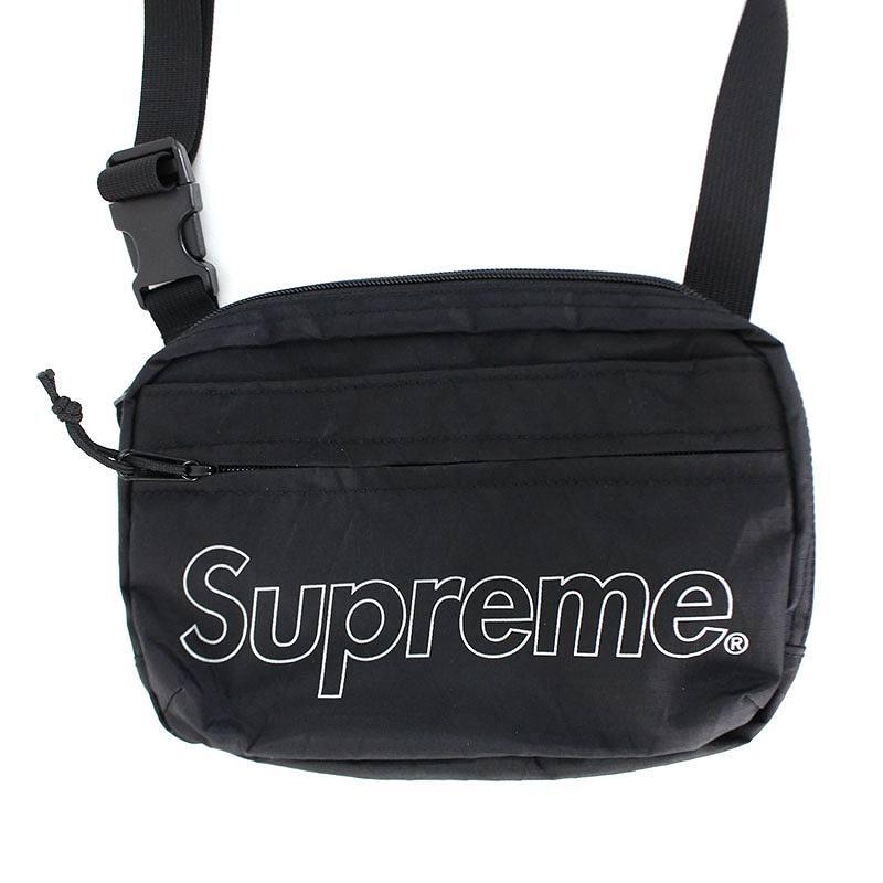 シュプリーム/SUPREME 【18AW】【Shoulder Bag】ボックスロゴナイロンショルダーバッグ(ブラック)【OM10】【小物】【829081】【中古】bb76#rinkan*S
