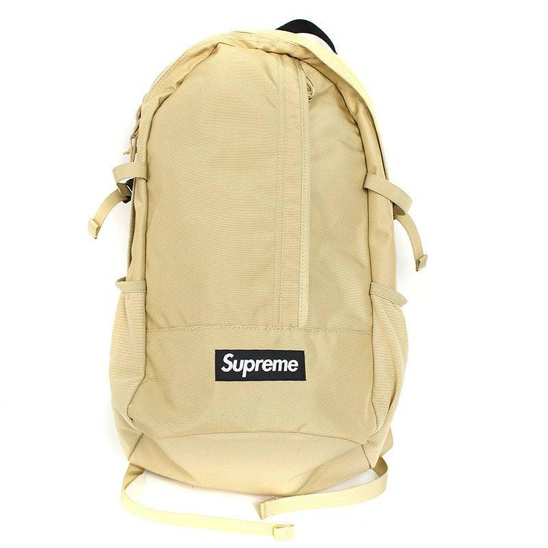 シュプリーム/SUPREME 【18SS】【Backpack】ボックスロゴナイロンバックパック(ベージュ)【HJ12】【小物】【629081】【中古】bb157#rinkan*S