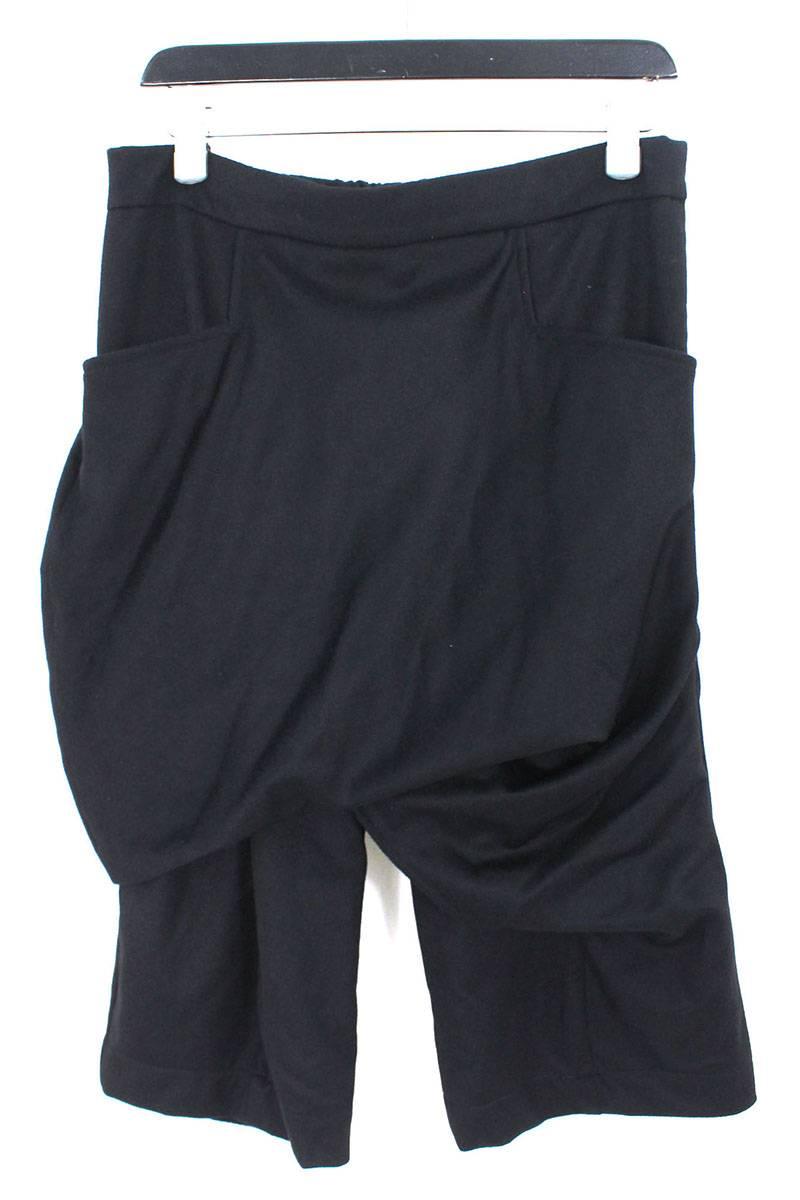 タマンヤー/THAMANYAH 【Razor Crotch Shorts】フリースアンゴラドレープハーフパンツ(42/ブラック)【BS99】【メンズ】【レディース】【929081】【中古】[5倍][5倍]bb51#rinkan*S