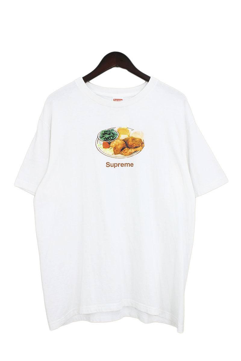 シュプリーム/SUPREME 【18SS】【Chicken Dinner Tee】チキンプレートプリントTシャツ(L/ホワイト)【SB01】【メンズ】【829081】【中古】【P】bb87#rinkan*B