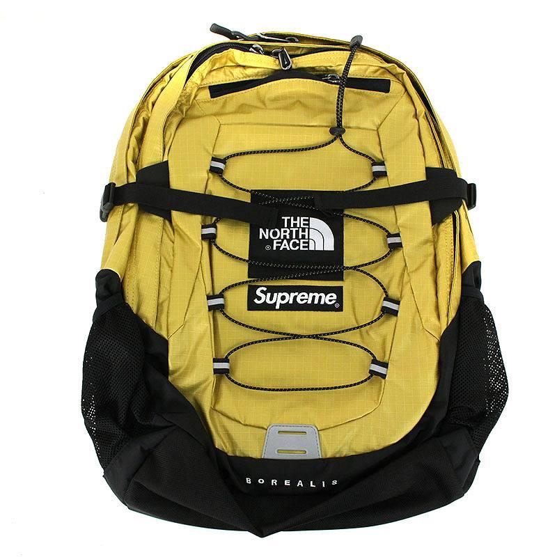 シュプリーム/SUPREME ×ノースフェイス/THE NORTH FACE 【18SS】【Metallic Borealis Backpack】メタリックボックスロゴバックパック(ゴールド)【SB01】【小物】【829081】【中古】bb212#rinkan*S