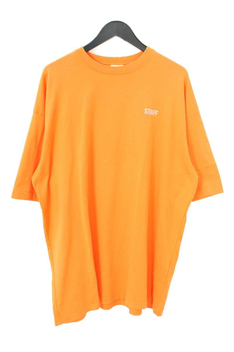 ヴェトモン/VETEMENTS 【18SS】【Staff Reflector T-shirt MSS18TR31】スタッフリフレクトロゴプリントTシャツ(S/オレンジ)【NO05】【メンズ】【100181】【中古】[5倍]bb170#rinkan*B