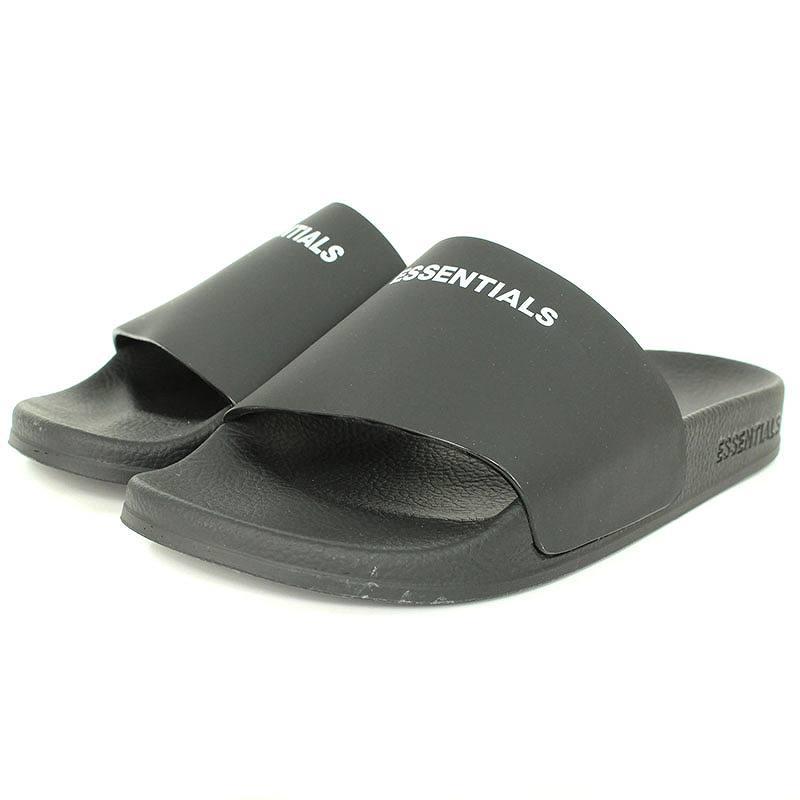 フォグ/FOG 【Essentials Leather Slide Sandals】ロゴレザーサンダル(38/ブラック)【SB01】【メンズ】【小物】【200181】【中古】bb78#rinkan*S