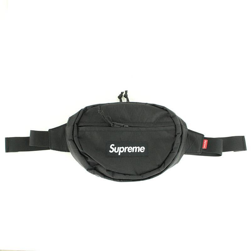 シュプリーム/SUPREME 【18SS】【Waist Bag】ボックスロゴナイロンウエストバッグ(ブラック)【OS06】【小物】【700181】【中古】bb62#rinkan*B