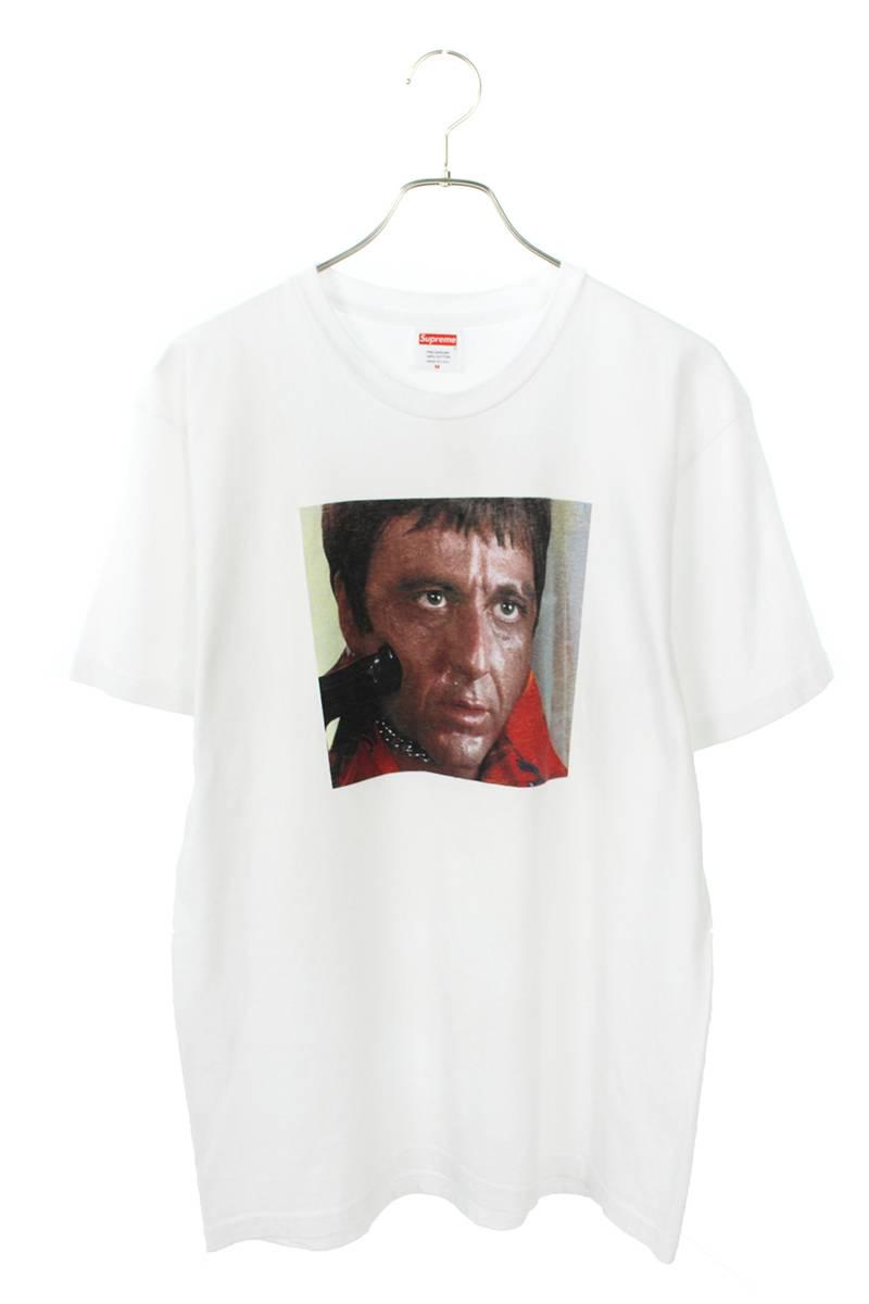 シュプリーム/SUPREME 【17AW】【SCARFACE SHOWER TEE】フロントフォトプリントTシャツ(M/ホワイト)【SB01】【メンズ】【200181】【中古】【P】bb177#rinkan*B
