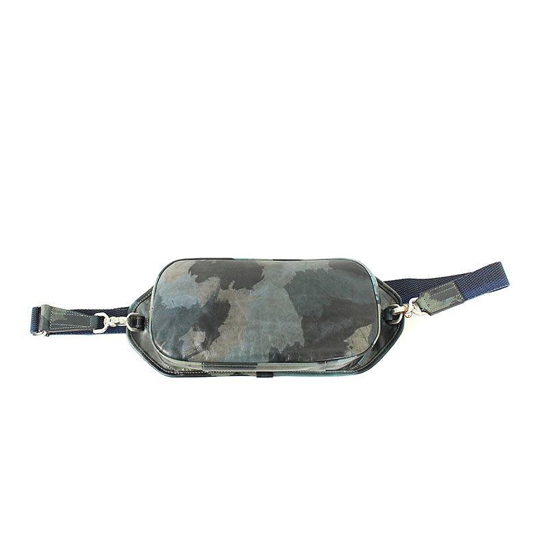 アニアリ/aniary 【Turtle Shoulder】カモフラ柄レザーショルダーバッグ(ネイビー調)【BS99】【小物】【110181】【中古】bb30#rinkan*S