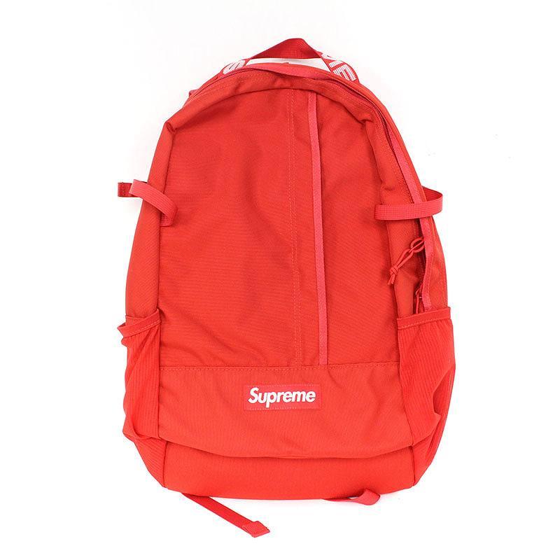 シュプリーム/SUPREME 【18SS】【Backpack】ボックスロゴナイロンバックパック(レッド)【OM10】【小物】【500181】【中古】bb33#rinkan*S