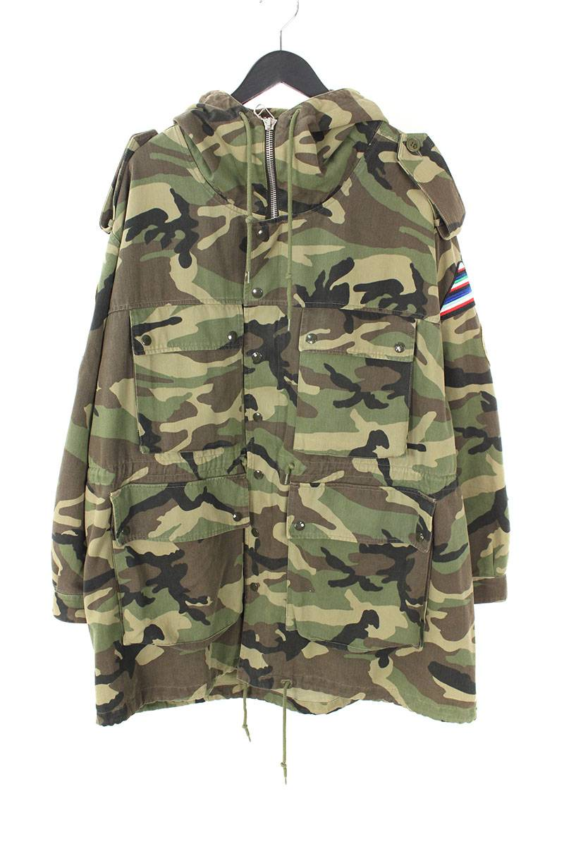 2aaf485e300a8 [16SS] [415922 Y927L] camouflage camouflage pattern rocket military Mods  coat