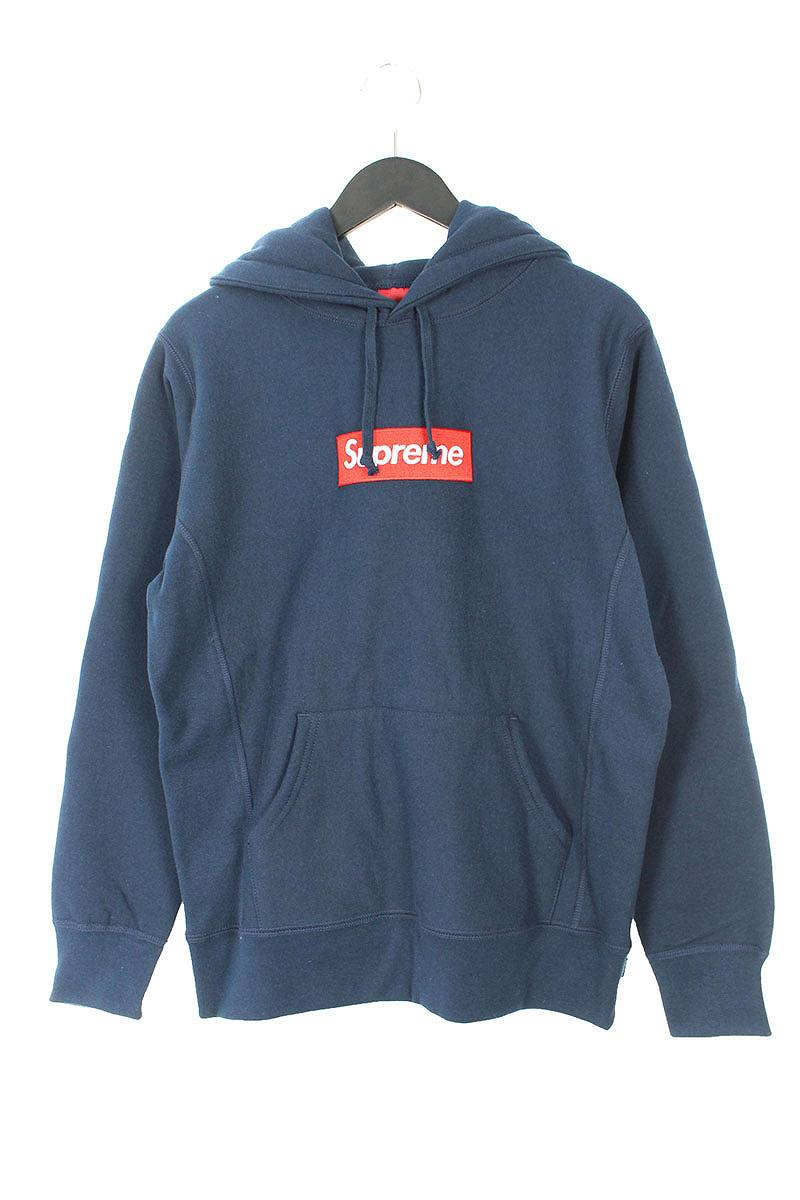 シュプリーム/SUPREME 【16AW】【Box Logo Hooded Sweatshirt】ボックスロゴフーデッドスウェットパーカー(S/ネイビー)【OM10】【メンズ】【900181】【中古】bb205#rinkan*S