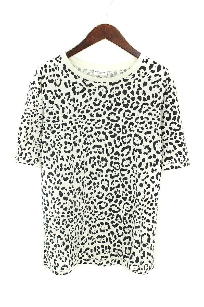 サンローランパリ/SAINT LAURENT PARIS 【16SS】【413269】ベイビーキャットTシャツ(S/ホワイト×ブラック)【SB01】【メンズ】【900181】【中古】bb14#rinkan*A