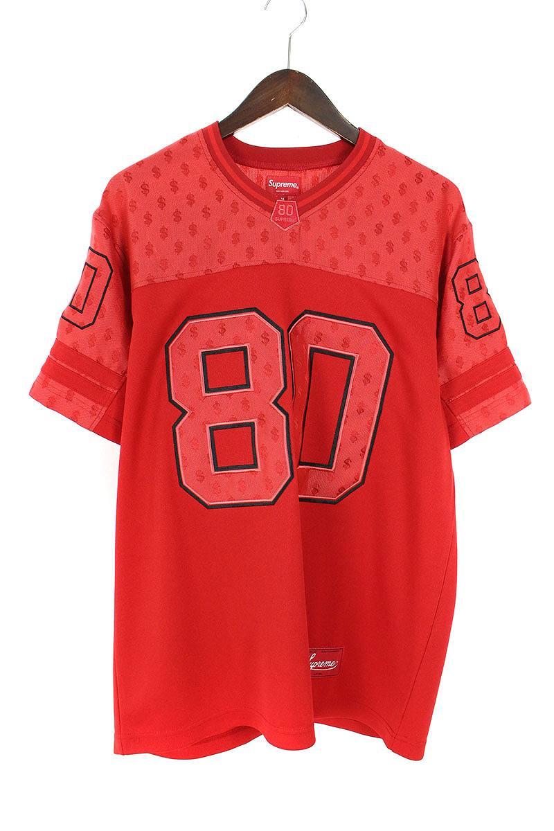 シュプリーム/SUPREME 【18SS】【Monogram Football Jersey】モノグラムフッドボールジャージーTシャツ(M/レッド)【BS99】【メンズ】【510181】【中古】[5倍]bb202#rinkan*A