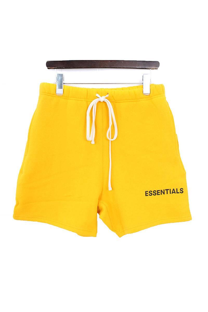 フォグ/FOG 【18AW】【ESSENTIALS Graphic Sweat Shorts】ドローコードスウェットハーフパンツ(S/イエロー)【SB01】【メンズ】【110181】【中古】[5倍][5倍]bb212#rinkan*S