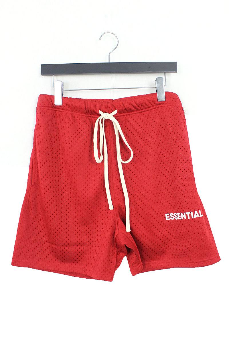 フォグ/FOG 【18AW】【ESSENTIALS Graphic Mesh Drawstring Shorts】ドローコードメッシュハーフパンツ(S/レッド)【SB01】【メンズ】【110181】【中古】[5倍][5倍]bb131#rinkan*S