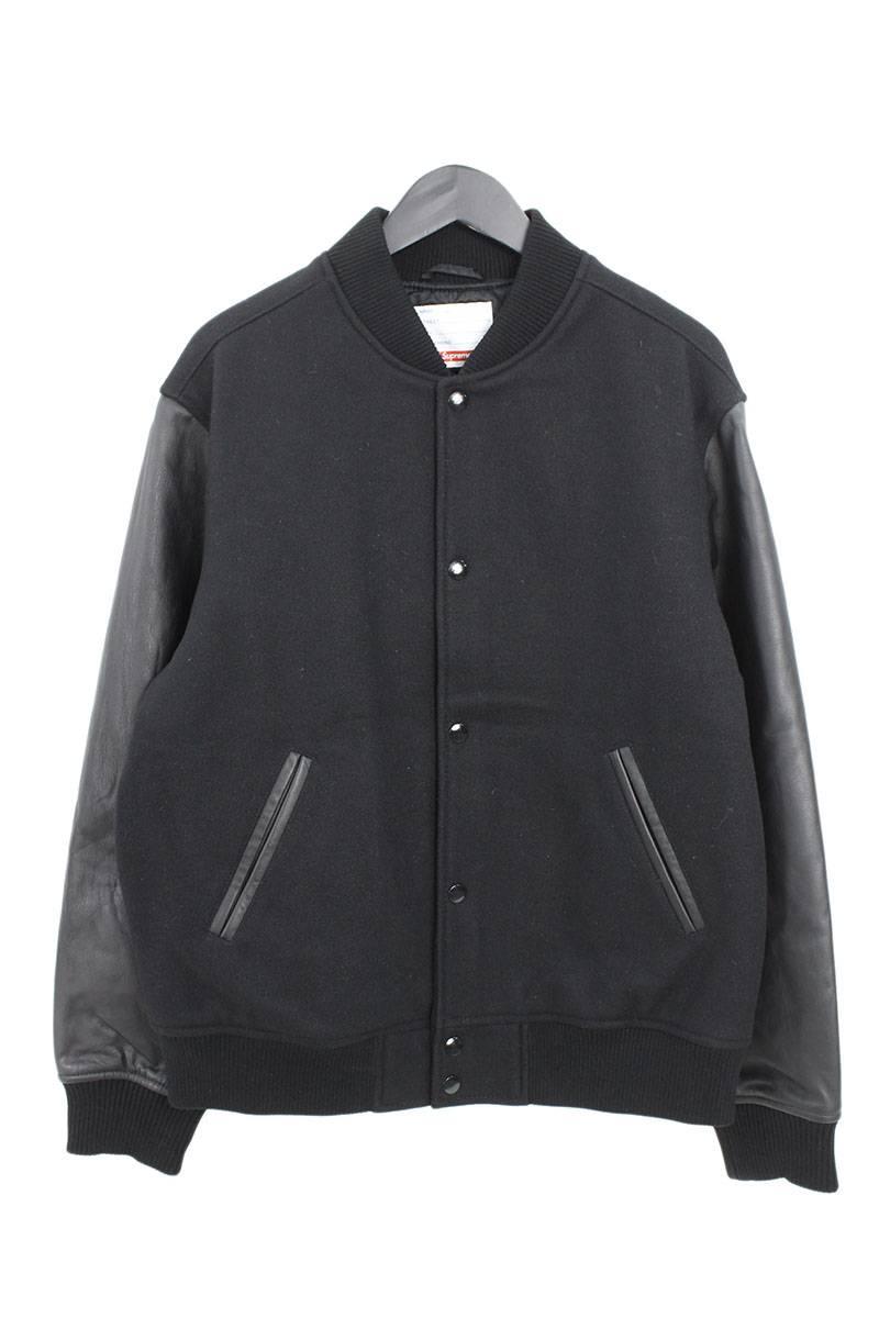 シュプリーム/SUPREME 【18AW】【Motion Logo Varsity Jacket】モーションロゴジャケット(M/ブラック)【OM10】【メンズ】【410181】【中古】bb10#rinkan*S