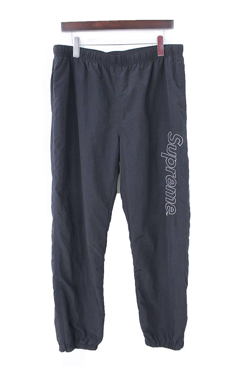 シュプリーム/SUPREME 【16SS】【Warm Up Pants】ロゴ刺繍ウォームアップロングパンツ(L/ブラック)【SB01】【メンズ】【210181】【中古】[5倍][5倍]bb154#rinkan*B