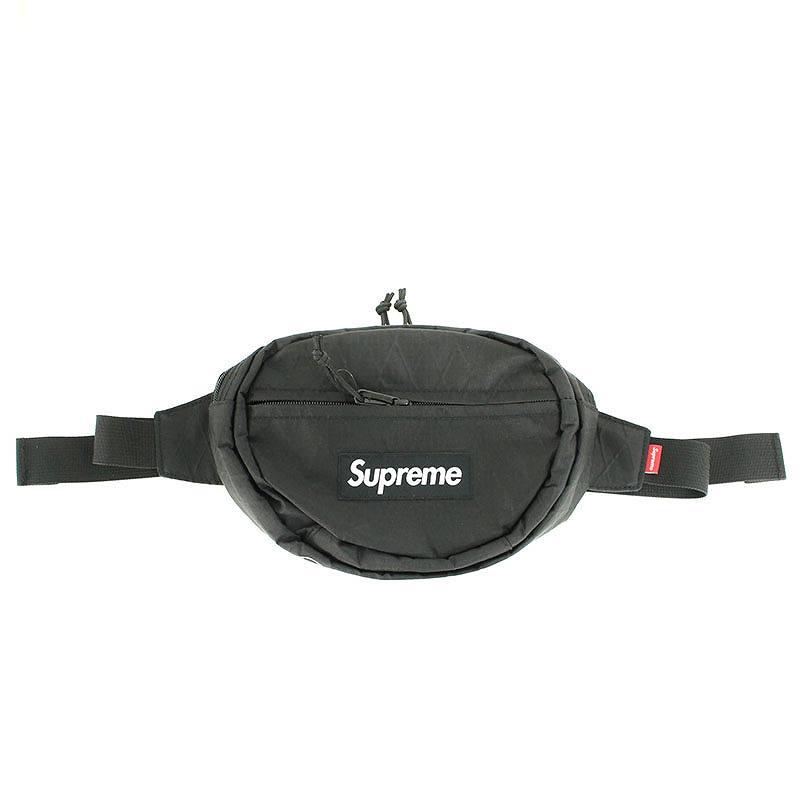 シュプリーム/SUPREME 【18AW】【Waist Bag】ボックスロゴナイロンウエストバッグ(ブラック)【SB01】【小物】【110181】【中古】bb157#rinkan*S