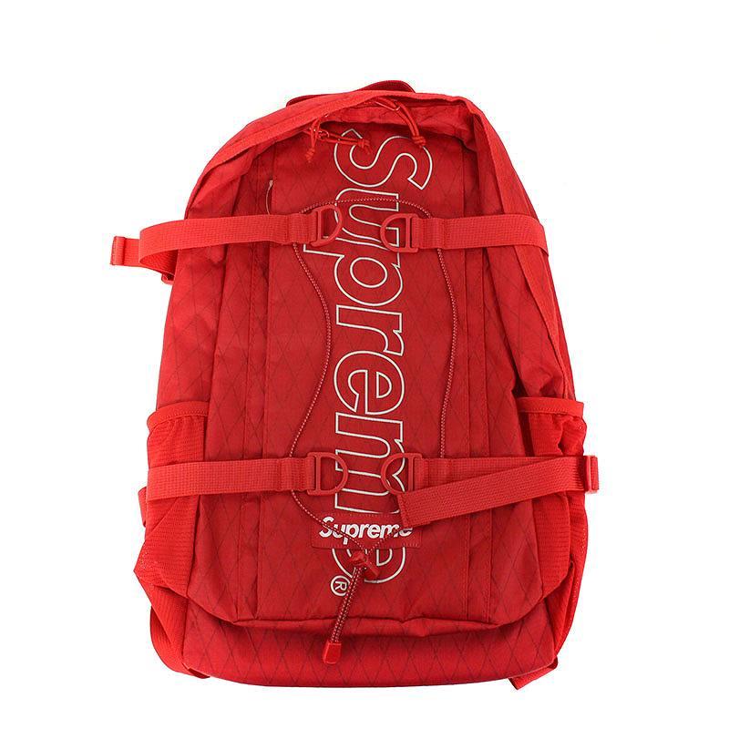 シュプリーム/SUPREME 【18AW】【Backpack】ボックスロゴナイロンバックパック(レッド)【SB01】【小物】【110181】【中古】bb131#rinkan*S