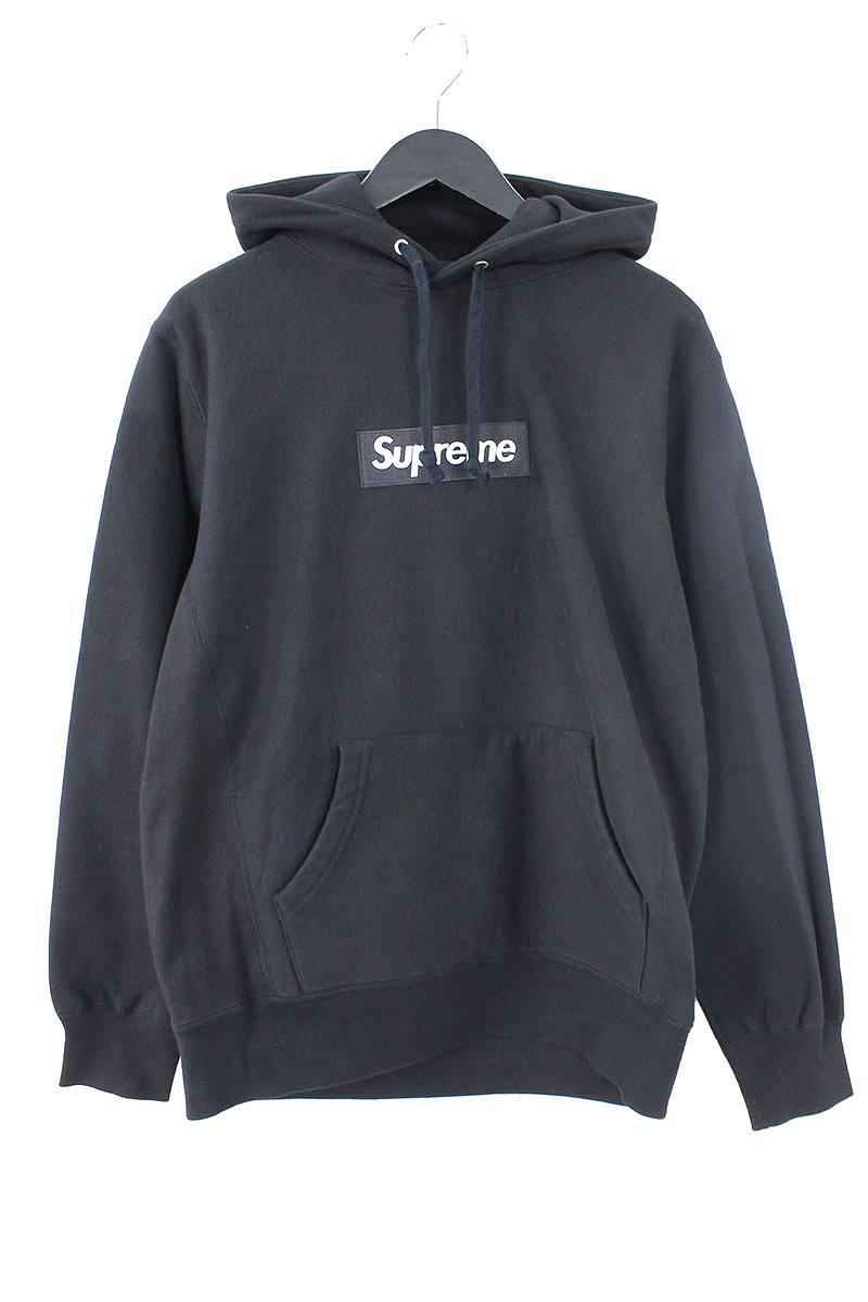 シュプリーム/SUPREME 【12AW】【Box Logo Pullover】ボックスロゴプルオーバーパーカー(M/ブラック)【SJ02】【メンズ】【210181】【中古】bb202#rinkan*B