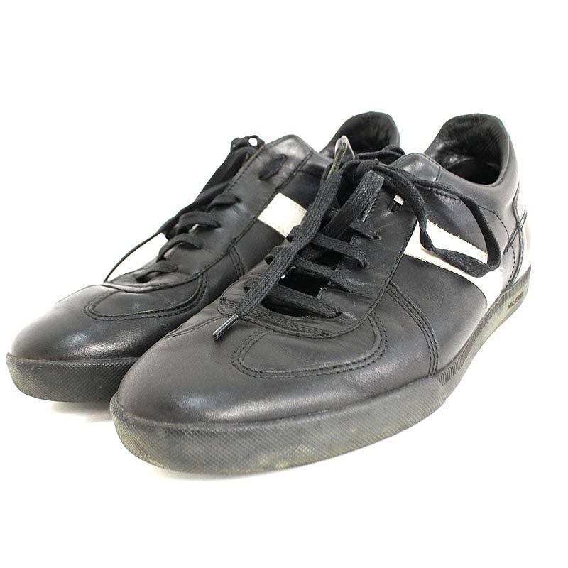 ディオールオム/Dior HOMME ジャーマントレーナーレザースニーカー(40/ブラック×ホワイト)【BS99】【メンズ】【小物】【101181】【中古】bb14#rinkan*B