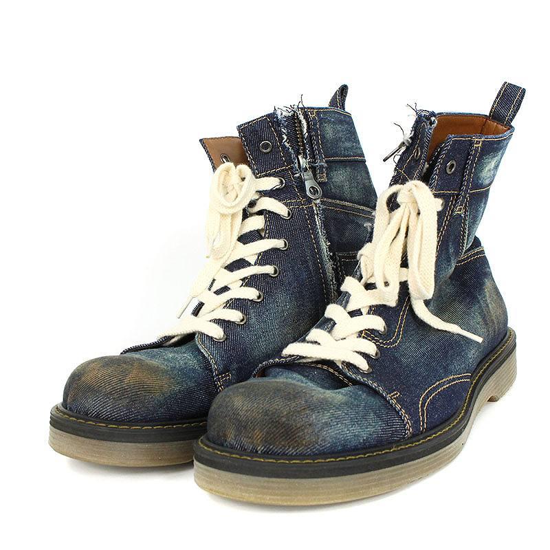 グラム/glamb 【GB0318/AC01 Slinky denim boots】サイドジップデニムブーツ(3/ブルー調)【BS99】【メンズ】【小物】【101181】【中古】bb14#rinkan*A