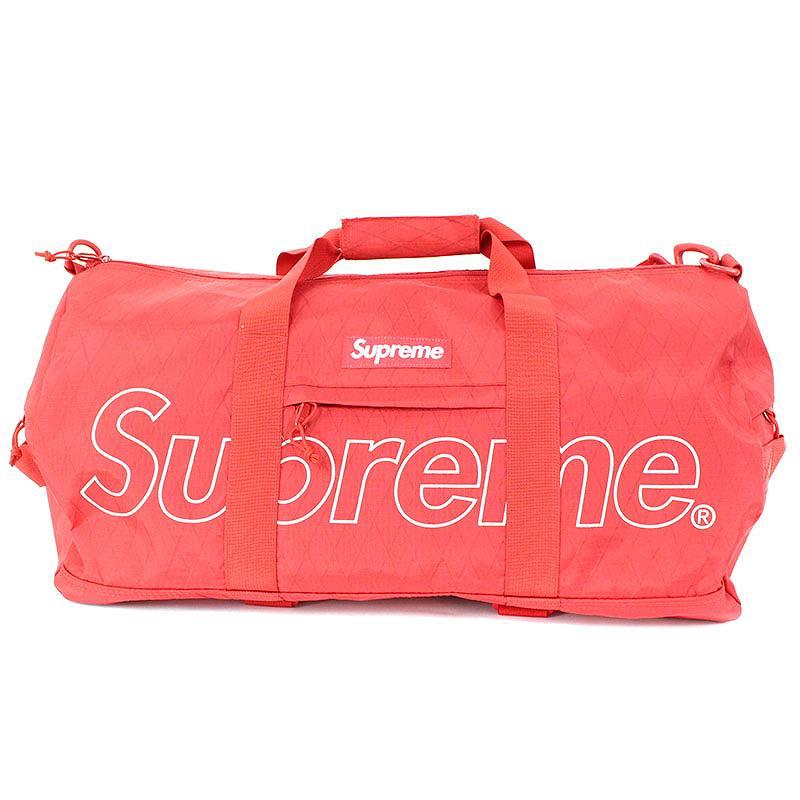 シュプリーム/SUPREME 【18AW】【Duffle Bag】ロゴプリントボストンバッグ(レッド)【HJ12】【小物】【510181】【中古】bb157#rinkan*S
