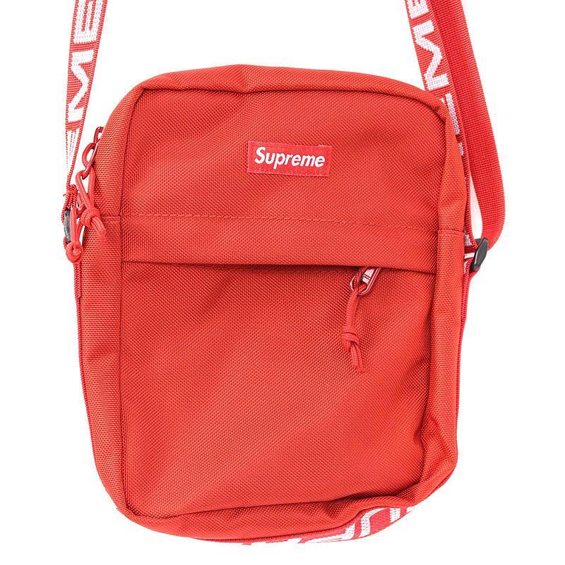 シュプリーム/SUPREME 【18SS】【Shoulder Bag】ボックスロゴナイロンショルダーバッグ(レッド)【OM10】【小物】【710181】【中古】bb154#rinkan*S