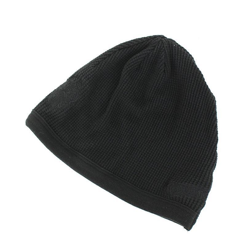 クロムハーツ/Chrome Hearts ダガー刺繍ビーニーニット帽(ブラック)【BS99】【小物】【101181】【中古】bb33#rinkan*B
