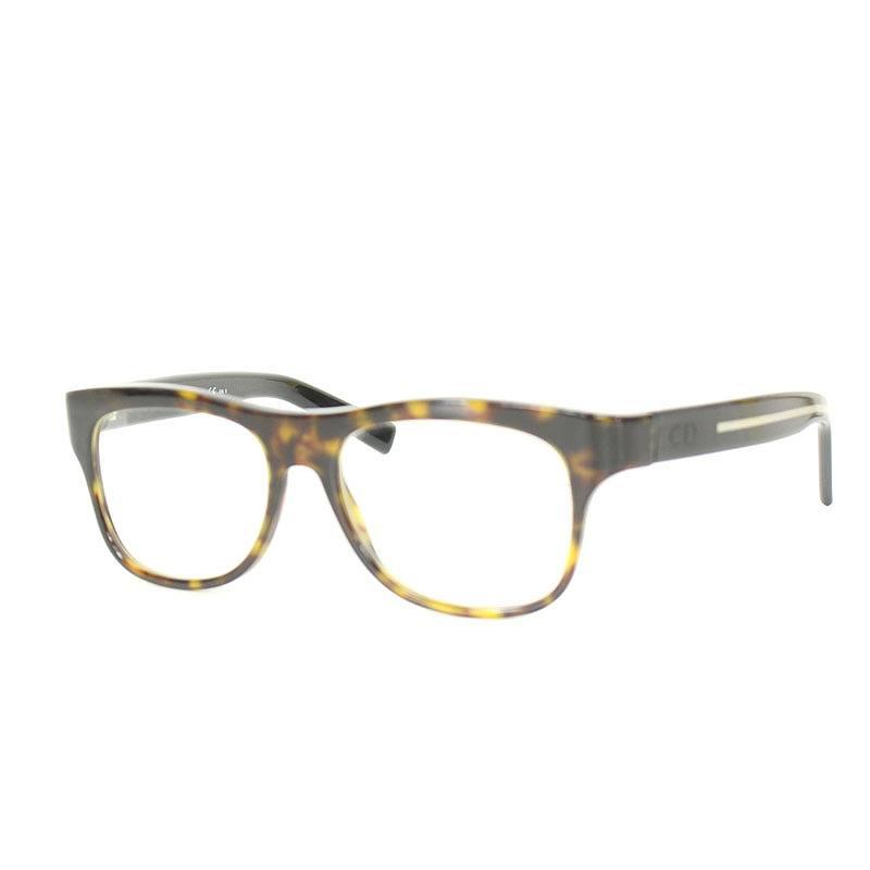 ディオールオム/Dior HOMME 【BLACKTIE8SN】鼈甲調セルフレーム眼鏡眼鏡(ブラウン調)【BS99】【小物】【101181】【中古】bb30#rinkan*B