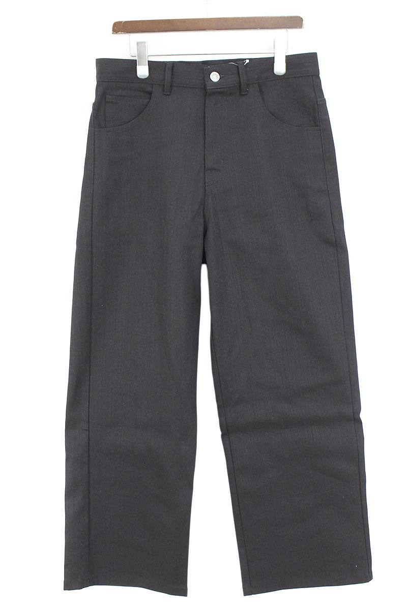 ラフシモンズ/RAF SIMONS 【18SS】【DENIM CHINO PANTS】ワイドストレートデニムパンツ(29インチ/ブラック×ブラウン)【FK04】【メンズ】【320181】【中古】bb81#rinkan*A