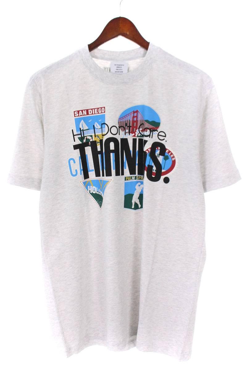 ヴェトモン/VETEMENTS 【18AW】【Tourist T-Shirt】カリフォルニアプリントTシャツ(M/グレー)【SJ02】【メンズ】【720181】【新古品】bb20#rinkan*N