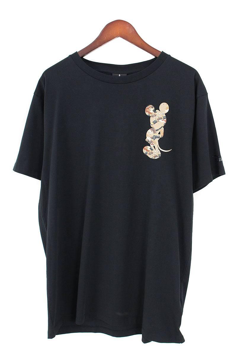 マルセロバーロン/MARCELO BURLON ×ディズニー 【18SS】【MICKEY MOUSE SNAKES T-SHIRT】ミッキーマウスプリントTシャツ(L/ブラック)【BS99】【メンズ】【101181】【中古】[5倍]bb205#rinkan*S
