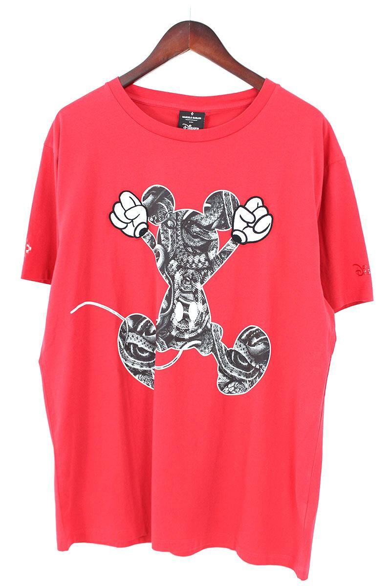 マルセロバーロン/MARCELO BURLON ×ディズニー 【18SS】【MICKEY MOUSE JUMP T-SHIRT】ミッキーマウスプリントTシャツ(M/レッド)【BS99】【メンズ】【101181】【中古】[5倍]bb205#rinkan*S