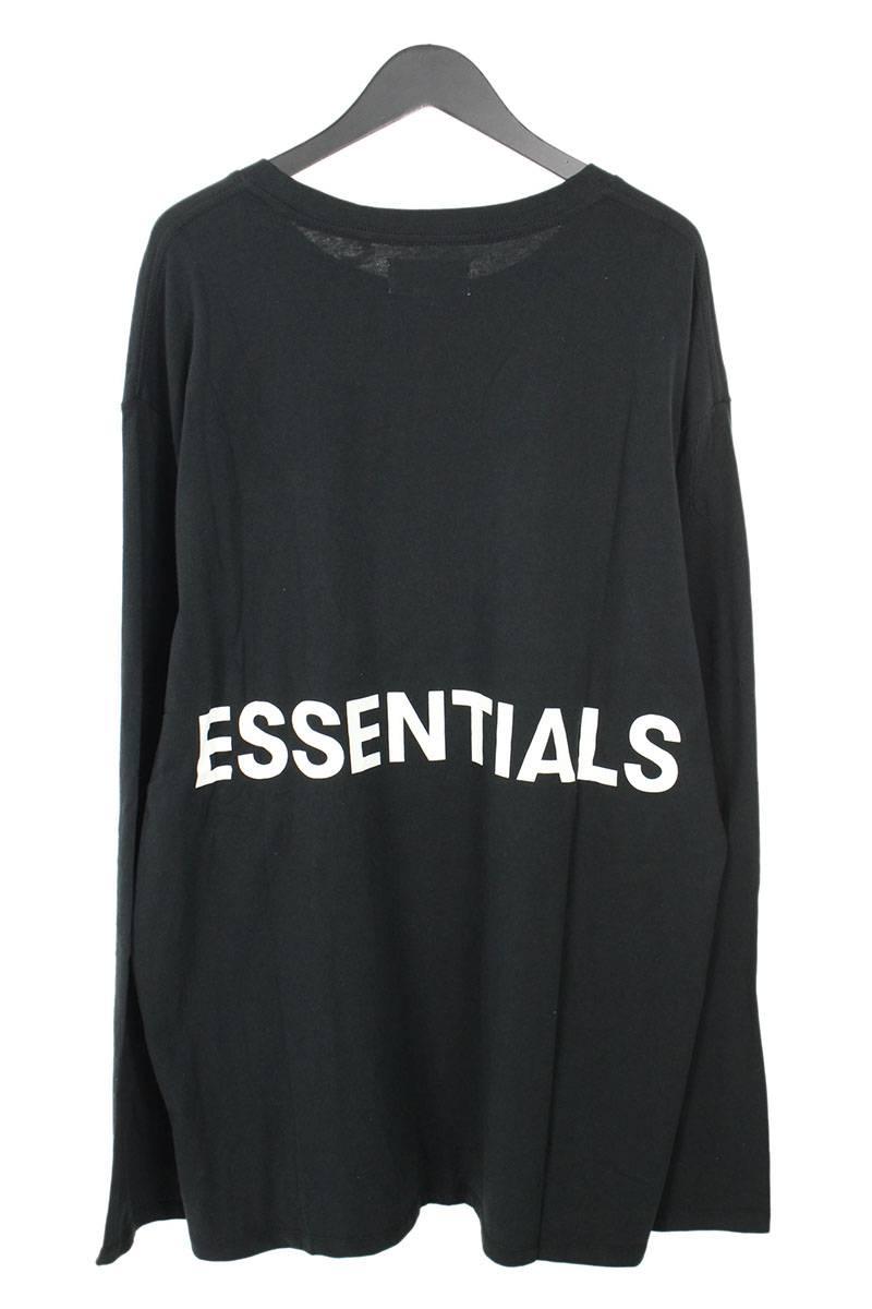 フォグ/FOG 【18AW】【ESSENTIALS Boxy Graphic Long Sleeve T-Shirt】バックプリント長袖カットソー(XL/ブラック)【SB01】【メンズ】【120181】【中古】[5倍]bb131#rinkan*S