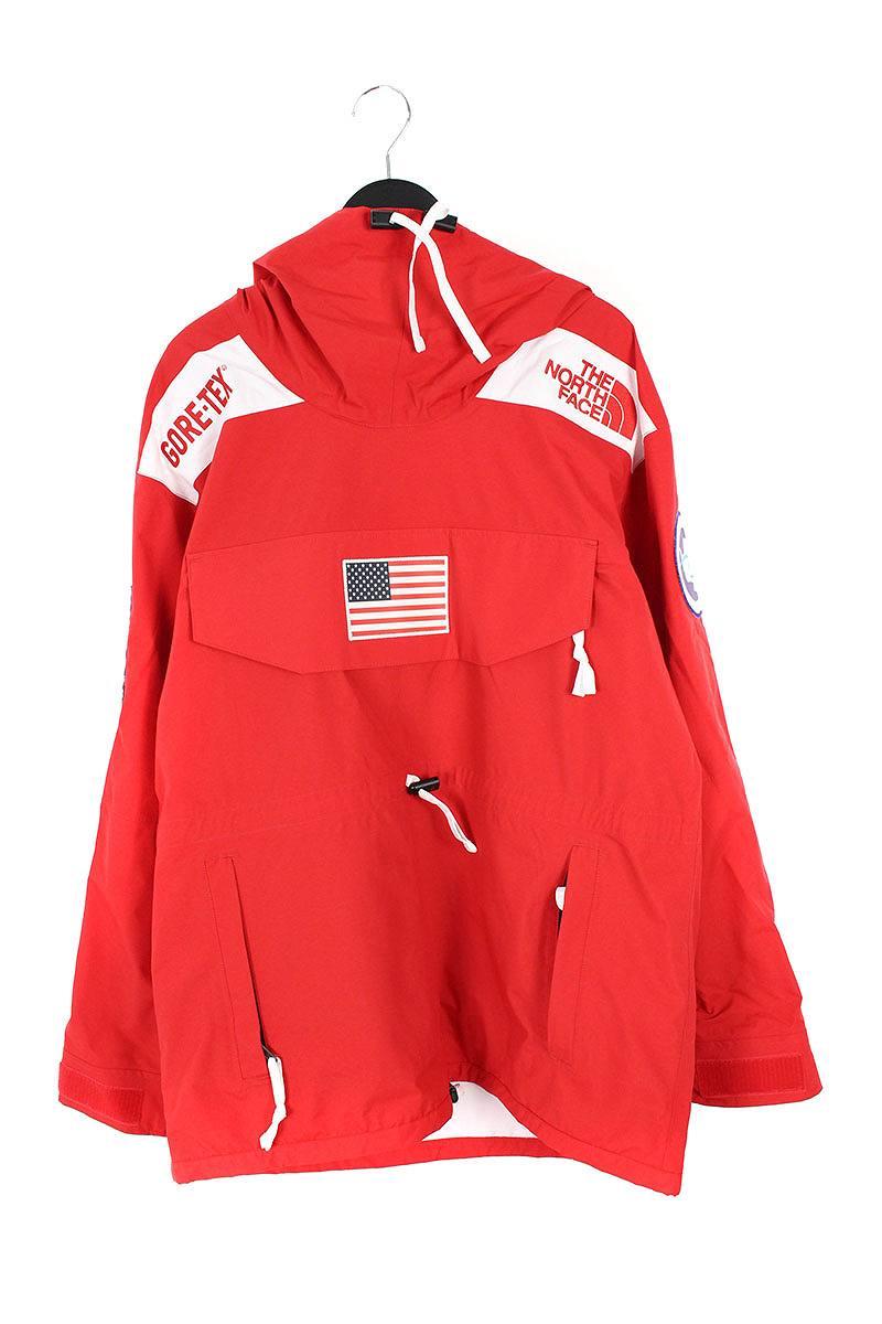 シュプリーム/SUPREME ×ノースフェイス/THE NORTH FACE 【17SS】【Trans Antarctica Expedition Gore-Tex Pullover】アメリカンフラッグマウンテンプルオーバージャケット(L/レッド)【OM10】【メンズ】【220181】【中古】bb99#rinkan*S