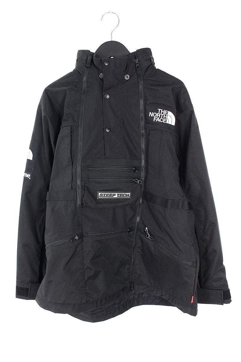 シュプリーム/SUPREME ×ノースフェイス/THE NORTH FACE 【16SS】【Steep Tech Hooded Jacket】マルチポケットマウンテンパーカージャケット(L/ブラック)【HJ12】【メンズ】【220181】【中古】bb99#rinkan*S
