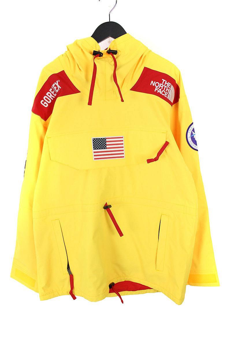 シュプリーム/SUPREME ×ノースフェイス/THE NORTH FACE 【17SS】【Trans Antarctica Expedition Gore-Tex Pullover】アメリカンフラッグマウンテンプルオーバージャケット(L/イエロー)【HJ12】【メンズ】【220181】【中古】bb99#rinkan*S